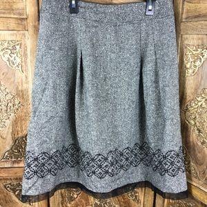 Loft  skirt size 8 blend wool and silk